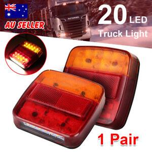 1-Pair-26-Led-Stop-Indicator-Trailer-Tail-Lights-Truck-Caravan-Square-Lamp-12V