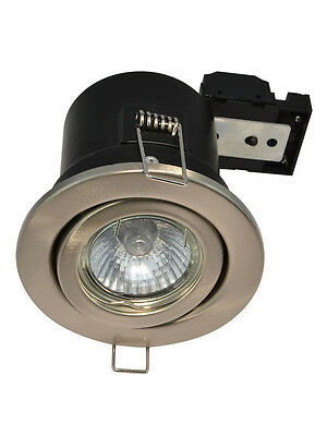 Lagere Prijs Met Fire Rated Gu10 Ceiling Downlight Spotlight Lights White Or Brushed Chrome 2019 Nieuwe Mode-Stijl Online