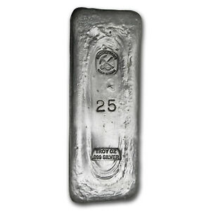 Image Is Loading 25 Oz Silver Bar Prospector 039 S Gold