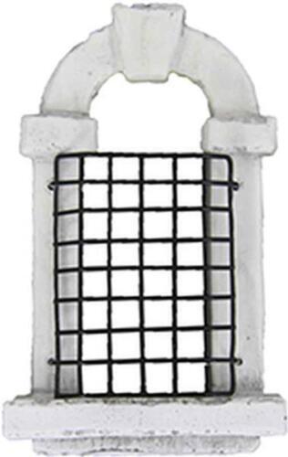 Krippenfiguren Krippenzubehör Fensterbogen mit Gitter weiß Höhe ca.5cm