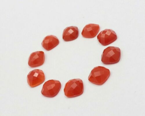 Details about  /Lot Of 5x5mm To 15x15mm Cushion AAA Natural Red Onyx Cushion Rose Cut Gemstone