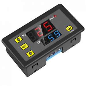 Programmable 12V 1 Channel Digital Cycle Delay Relay Timer Switch Dual LED Displ