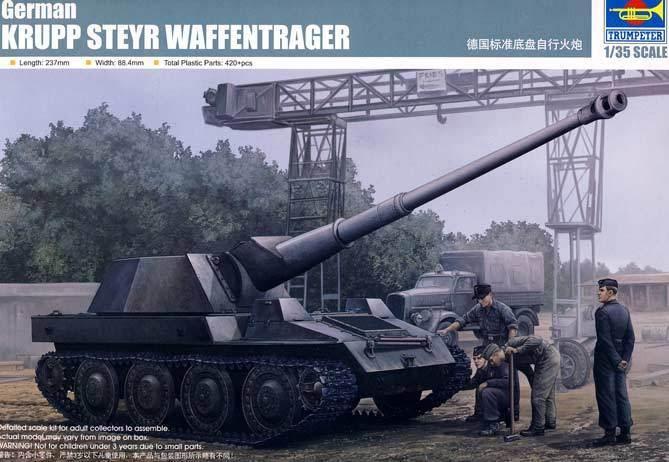 Trumpeter - Alemán Alemán Krupp Steyr Portador de Arma Pak 43 8.8 cm 1  3 5