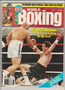WORLD-BOXING-MAGAZINE-GEORGE-FOREMAN-BOXING-HOFer-GERRY-COONEY-COVER-JUNE-1990