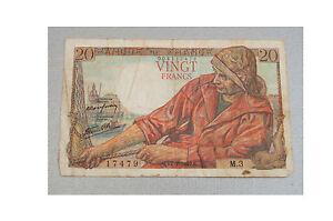 1942-Banque-of-France-20-Vingt-Francs-Note