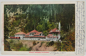 Shasta-Springs-California-1907-Captain-Smith-USA-Postcard-Ak-Postcard-A2461