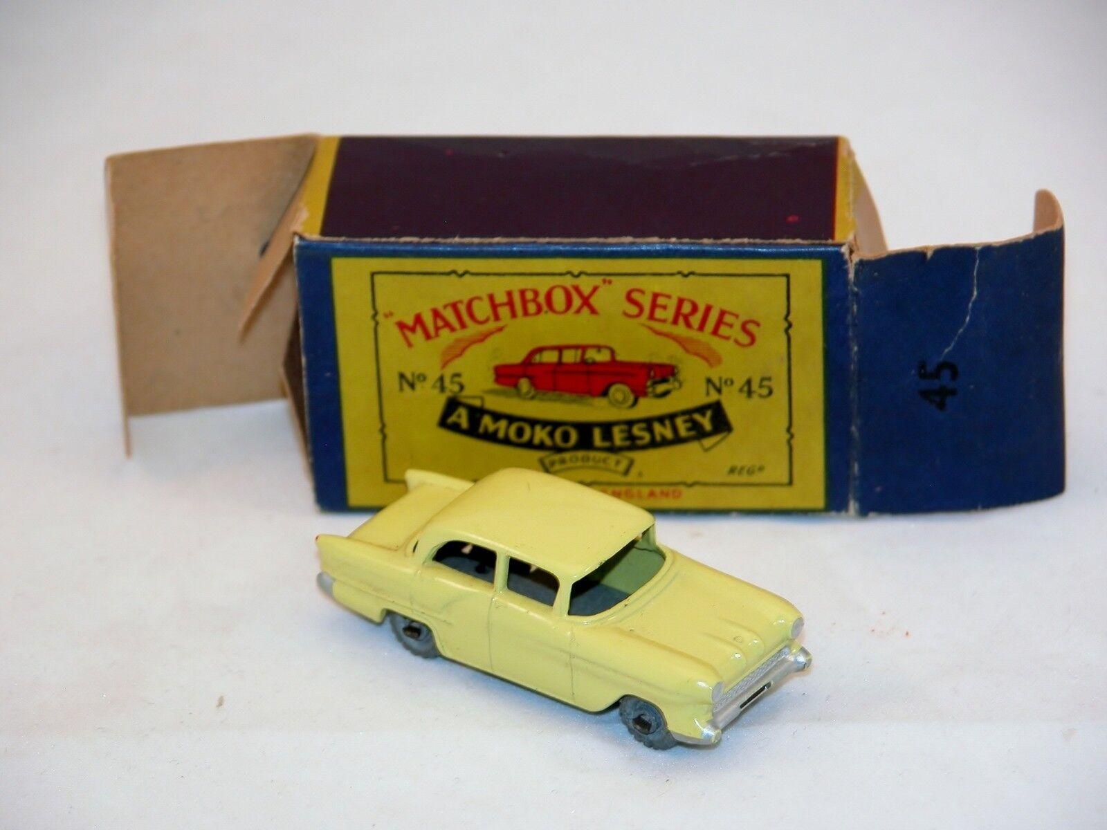 Matchbox Moko Lesney  N° 45  Vauxhall N Mint avec Boite  rare  ( MBA)