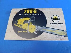 PIONEER-CHAINSAW-700-G-INSTRUCTION-MANUAL-MANUAL77A