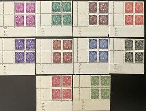 French Guiana #YTTT22-YTTT31 MNH Coins Date Blocks CV€50.00 [J22-J31]