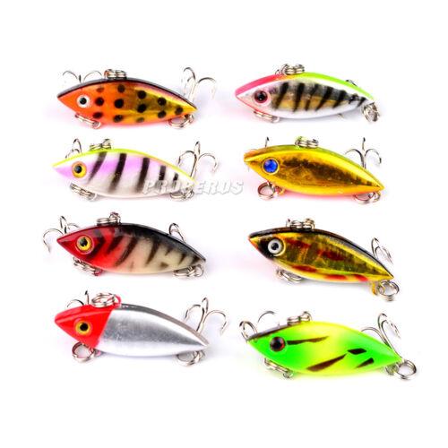 10PCS Crankbait Minnow Fishing  Fish Bass lure hook baits 4m//2.7g