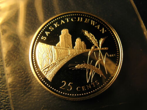 Canada 1992 Saskatchewan Join Confederation Gem Silver 25 Cent Coin.