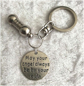 Cremation-Jewellery-Ashes-Urn-Keyring-w-May-Your-Angel-Keepsake-Memorial