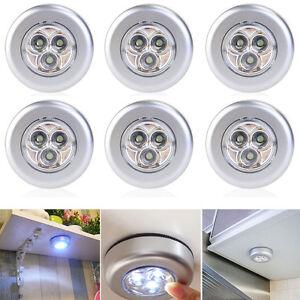 Image Is Loading Lot Of 6 3 LED Under Cabinet Push