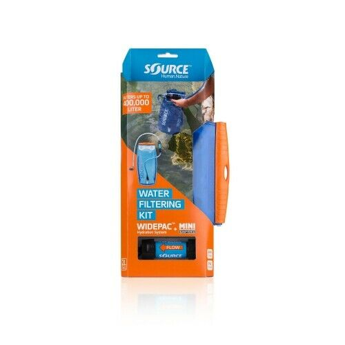 Source Widepac 2 L  + Sawyer filters Transparent-bluee Water Bag Hydration System  brand outlet
