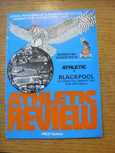 17011976 Oldham Athletic v Blackpool  Slight Creased - Birmingham, United Kingdom - 17011976 Oldham Athletic v Blackpool  Slight Creased - Birmingham, United Kingdom