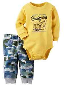 4f32adc6c95ff Image is loading Carters-Infant-Boys-Construction-Baby-Outfit-Yellow- Bodysuit-
