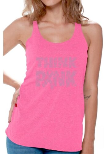 Think Pink Workout Racerback Tank Top Women/'s Breast Cancer Awareness