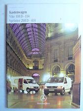 Prospekt Mercedes-Benz Kastenwagen - Vito 108D, Sprinter 208D, 7.1998, 36 Seiten