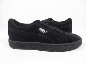 d0167eaa518 PUMA Suede Jr Classic Kids Sneaker Black Puma Silver Size 5.5 C