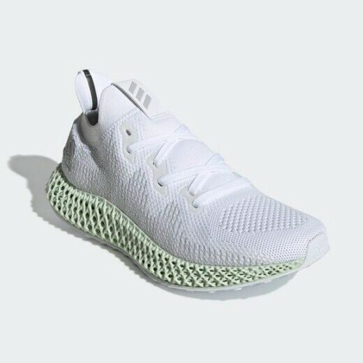 New Adidas Men's AlphaEdge 4D M Running shoes Sneakers - White Grey(CG5526)