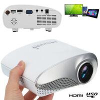 3D Portable 1080P HD LED Mini Projector Multimedia Home Theater USB VGA HDMI TV