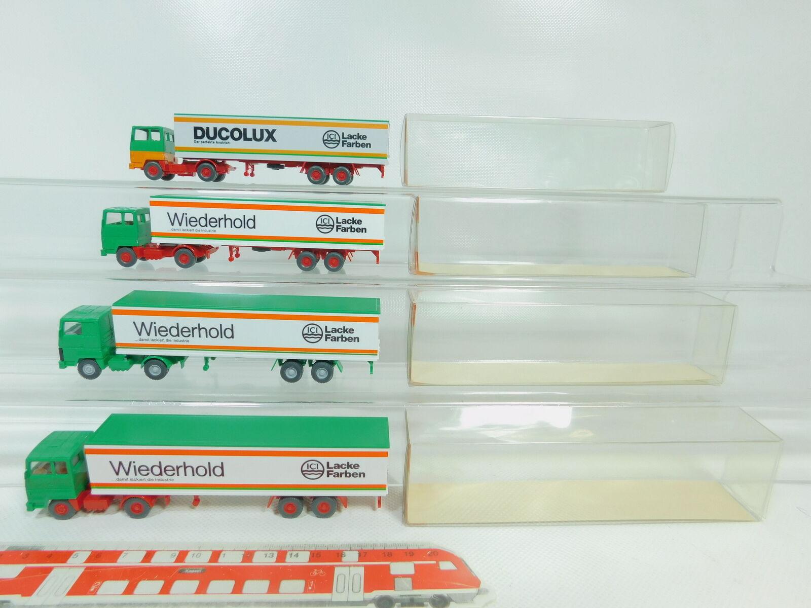 BO671-0,5 x Wiking H0   1 87 87 87 540 Lorry Ford Ici  Wiederhold + Ducolux,VG+ Box 90b1ca