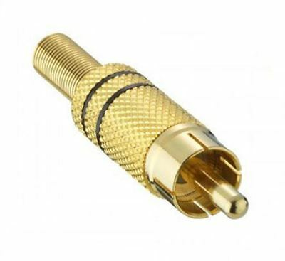 auvisio Premium-Stereo-Kabel 2 Cinch auf 2 Cinch 2 m vergoldet schwarz