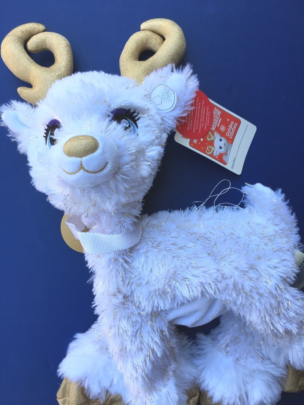 Build a Bear 15  oroen Glisten - Christmas Reindeer Plush Toy - Unstuffed-NWT