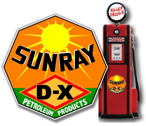 "12/"" SUNRAY DX GASOLINE OIL PUMP AND LUBSTER DECAL"