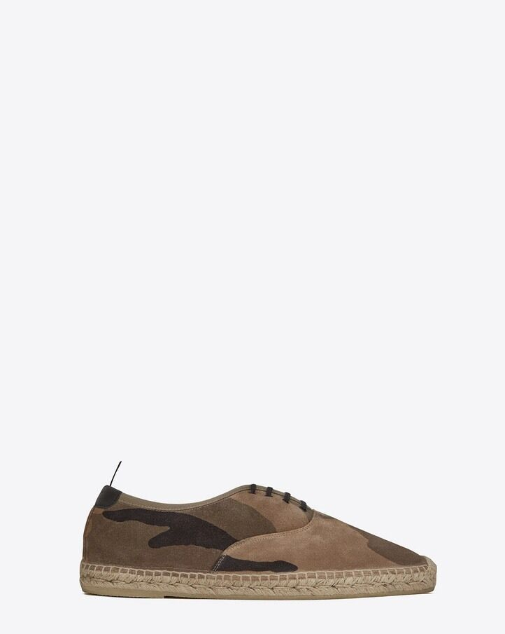Men/Women Saint Laurent suede espedrilles Camo 45/12 Elegant appearance Won highly appreciated and widely trusted at home and abroad Famous store