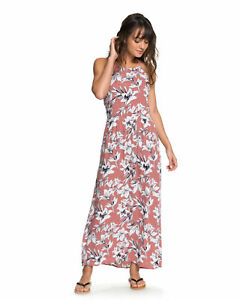 NEW-ROXY-Womens-Pavement-Border-Floral-Print-Strappy-Maxi-Dress-Womens-Summerw