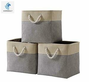 Cube-Foldable-Storage-Bin-Pack-3-Collapsible-Fabric-Storage-Basket-13-x-13-x-13