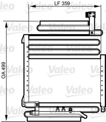 VALEO Kondensator Klimaanlage 814296 für B4 8B 89 8C5 80 AUDI 8C2 Aluminium RS2
