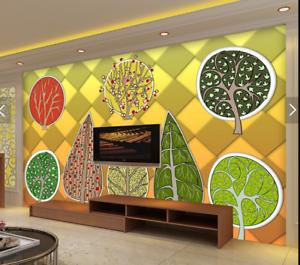 3D Super Cute Trees 7 Wall Paper Murals Wall Print Wall Wallpaper Mural AU Lemon