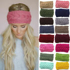 New Women Crochet Headband Knitted Hairband Flower Winter Ear Warmer Headwrap
