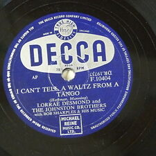 78rpm LORRAE DESMOND i can`t tell a waltz from a tango / for better for worse