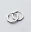 Genuine-925-Sterling-Silver-13mm-Huggie-Hoop-Ring-Sleeper-Earrings-Ear-Piercing thumbnail 4