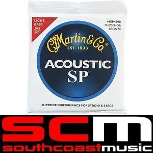 Martin MSP 4800 Acoustic Bass Guitar Strings Set 45 to 100 Phosphor Bronze Light