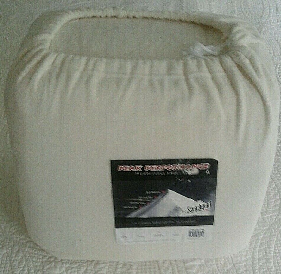 PEAK PERFORMANCE MICROFLEECE QUEEN SHEET SET IVORY--NEW