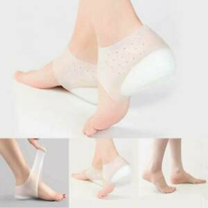 Unisex-Invisible-Height-Increase-Socks-Heel-Pads-Silicone-Insoles-Foot