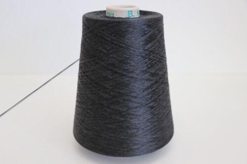 D48 7,5 500g 100/% REINE SEIDE // PURE SILK SCHWARZGRAU 85,98€//kg Wolle Lace