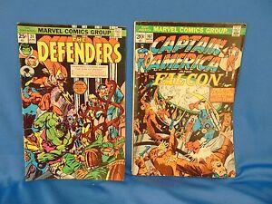 Vintage-Marvel-comic-book-lot-Defenders-24-Captain-America-amp-Falcon-167-1973