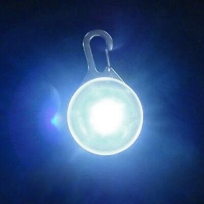 Pet Dog LED Flasher Blinker Circular Light Buckle Clip Safety Pendant Green