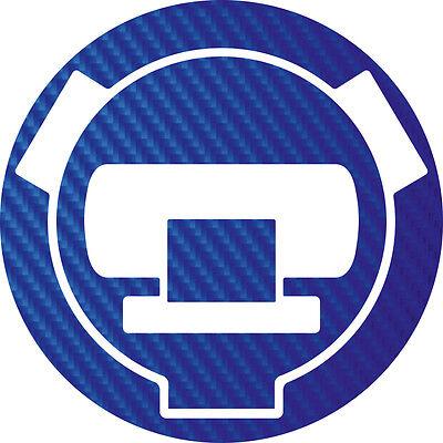 Für BMW R1150GS Tankdeckel Carbonlook Folie blau