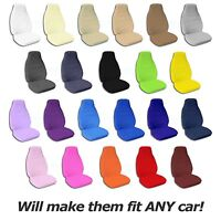 Solid Color Car Seat Covers (front, Semi-custom) Black/gray/brown/blue/red/pink+