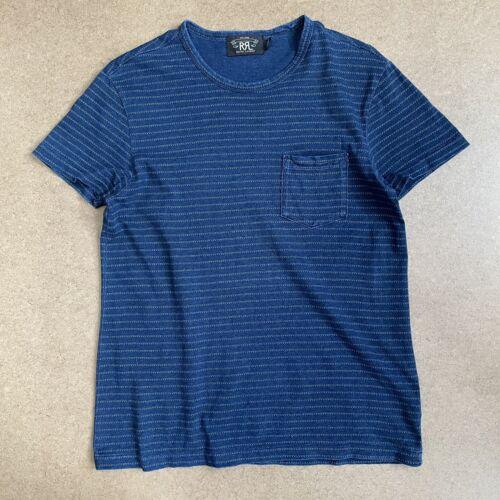 RRL Ralph Lauren Stripe Pocket T Shirt Indigo Tick
