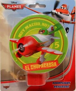 Details About Night Light DISNEY PLANES   EL CHUPACABRA Childrenu0027s Room  Hallway Bedroom S3