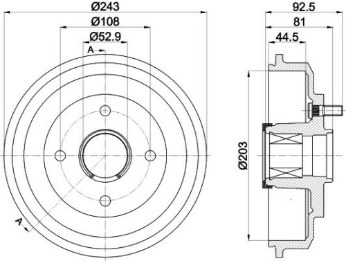 2x Bremstrommel TEXTAR 94041300