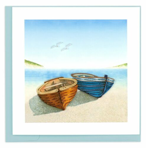 QUL-1005 Quilling Card 3-D Greeting Card BOATS