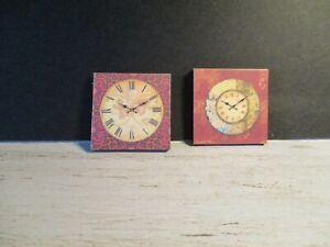Agressif 2 Maison De Poupées Miniature Horloges Dnu6-afficher Le Titre D'origine Une Offre Abondante Et Une Livraison Rapide